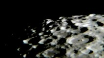 Amazing pan across 2/3 moon in waning crescent in ultra zoom!