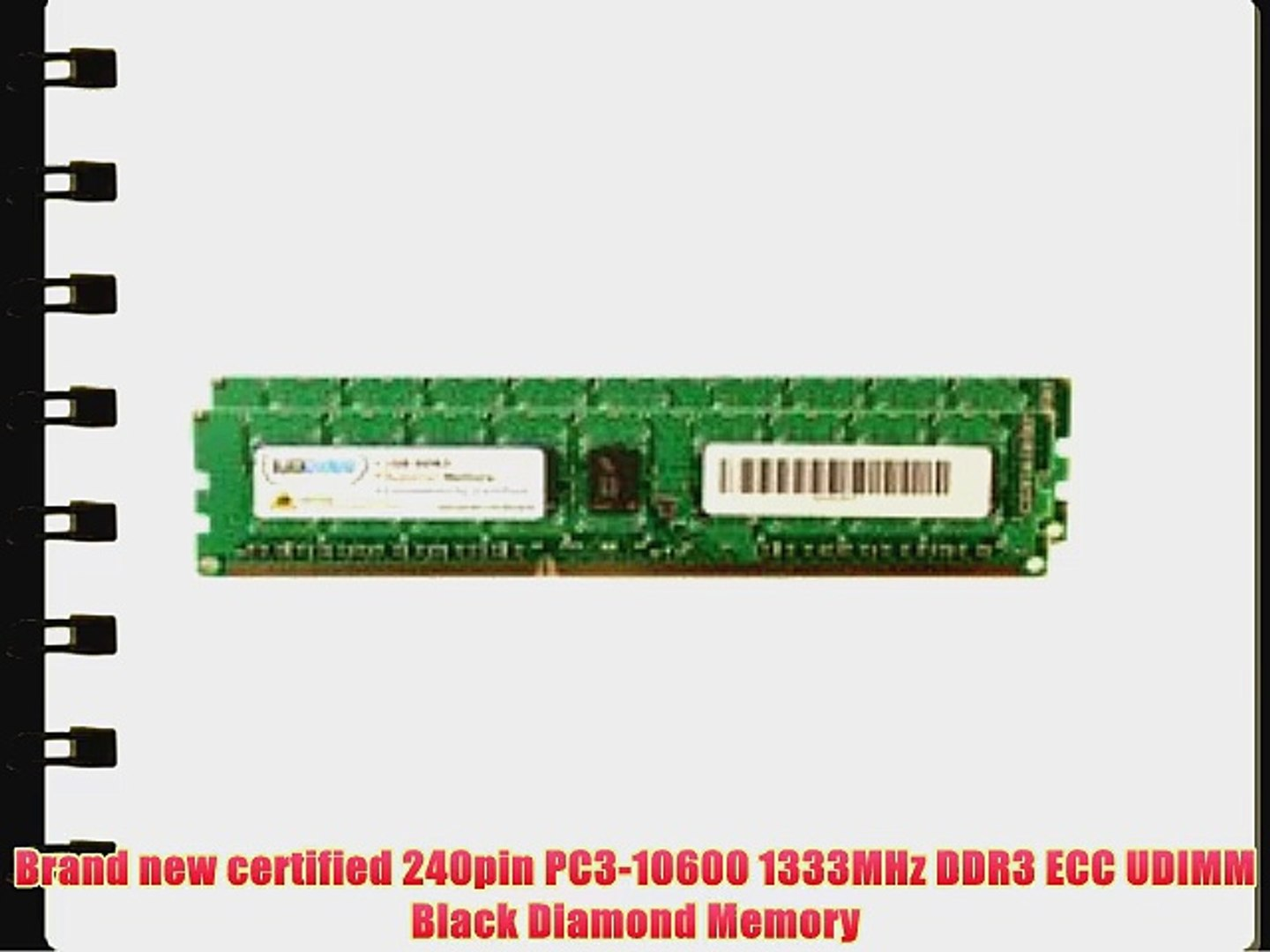 PC3-10600R 1333MHz DDR3 ECC Reg Memory Dell PowerEdge R410 Server 64GB 8x8GB