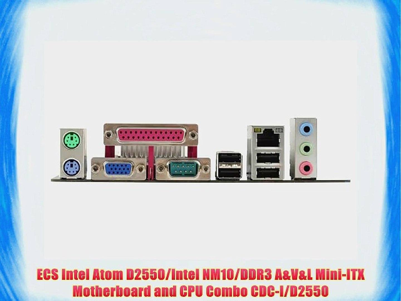 ECS Intel Atom D2550/Intel NM10/DDR3 A