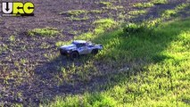 Team Associated Prolite 4x4 SC RTR on gravel & dirt field, box stock