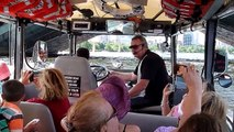 Byron Driving the Boat on the Charles River during Boston Duck Tour 7.13.14