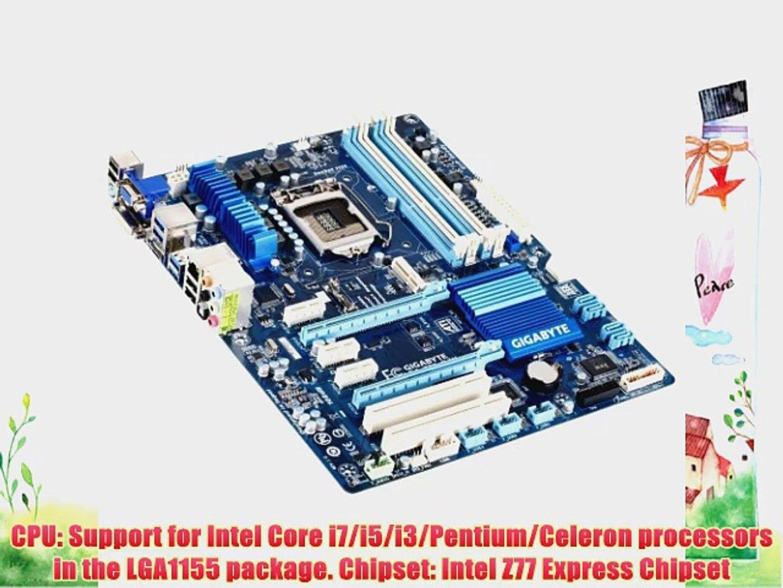 Gigabyte Intel Z77 LGA1155 AMD CrossFireX W/HDMIDVI Dual UEFI BIOS ATX  Motherboard GA-Z77-D3H
