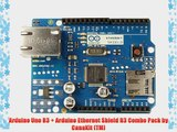 Arduino Uno R3   Arduino Ethernet Shield R3 Combo Pack by CanaKit (TM)