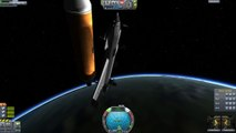 KSP - Using a Shuttle to Build a Space Station (and almost failing)