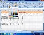 MS Excel 2007 in Hindi / Urdu : Merging Cells & Use Of CountIf Function - 8