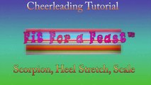 Cheerleading Scorpion and Cheerleading Stretches, Heel Stretch, Scale