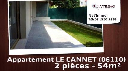 LE CANNET - Lumineux 2P 54m²- garage