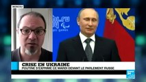 Ukraine : V. Poutine accélère la procédure d'intégration de la Crimée à la Russie