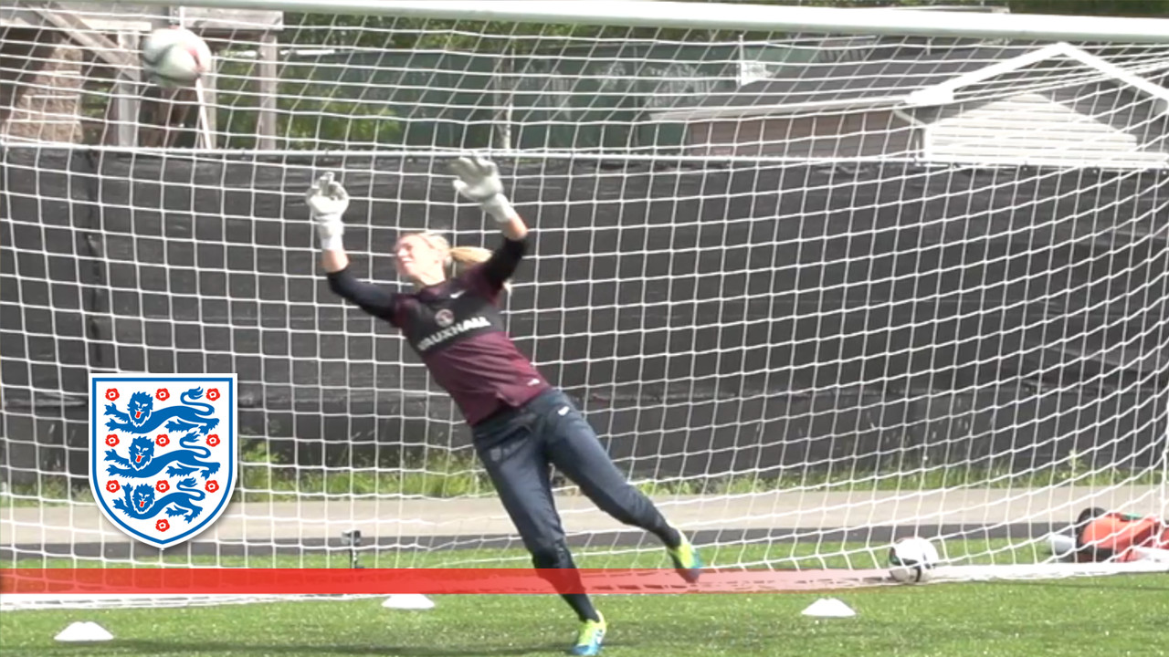 Women's Goal-keeper training at World Cup