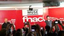Dédicace du groupe Anglais de rock MUSE à la fnac de Paris Saint-Lazare pour leur nouvel album DRONES - 9 juin 2015