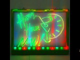 How to Use LED Illuminated Message Board - Erease-Dry Surface LED Board