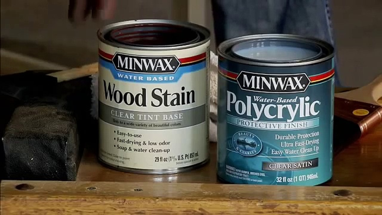 Tips On Using Minwax Water Based Stains Finishes Video Dailymotion