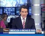 C5N - DEPORTES: HINCHAS DE RIVER FUERON EMBOSCADOS