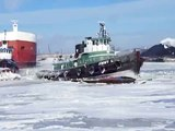 Tug Jimmy L. Breaking ice in the Menominee River - Scott Best