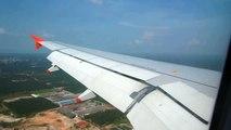Jetstar Asia Airbus A320 landing in Kuala Lumpur International Airport (KLIA).