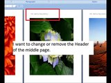 Add Different Header in the middle of a Ms Word 2007 Docx file.wmv