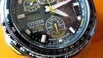 "Citizen Eco-Drive Skyhawk A-T ""Blue Angels"" Watch, SUPER-MACROED"