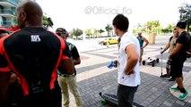 Flo-Rida Skating in Miami || Fiik Electric Skateboards: