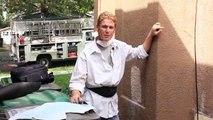 Loose and peeling stucco, peeling stucco finish, stucco peeling off