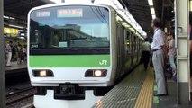 山手線新宿駅 夕方の超過密運転 Busy Trains Tokyo JR Yamanote Line Shinjuku Station