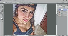 Speed Art: Technique How to make a Photo into look like Paintings in Photoshop!