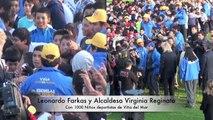 Leonardo Farkas con 1000 Niños deportistas de Viña del Mar