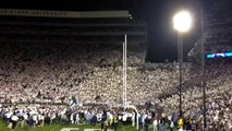 Penn State student section after beating Michigan in 4OT