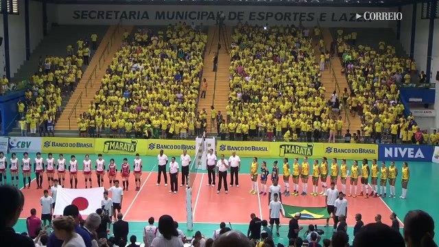 Brasil vence Japão no vôlei feminino