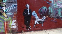 Blek Le Rat in Brooklyn. Stencil Graffiti Street Artists. Icy and Sot. Bansky.