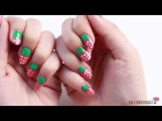Tutorial Video: Strawberry Nail Art