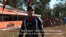 2011 KTM 250, 350 and 450 SX-F Australian Launch.mov
