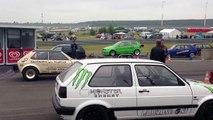 Speedmakers Vogtland VW Polo 1 R33 Turbo vs VW Golf 2 R30 Turbo VW Blasen 2013