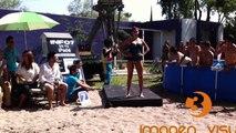 Modelos de Monterrey en pasarela de lencería TV Azteca