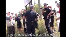 8 arrested for walking down road in Caledonia Ontario