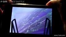 F-SIM Space Shuttle HD 720p - Kennedy Space Center - Full Approach