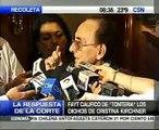 """Fayt calificó de """"tontería"""" los dichos de Cristina Kirchner sobre los """"jueces alquilados"""""""
