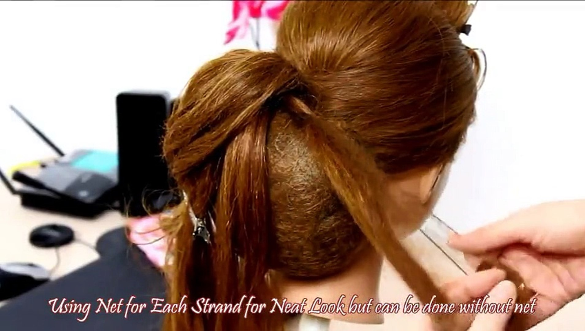 classical bridal hair style