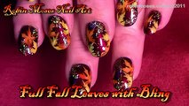 Nail Art Tutorial | DIY Thanksgiving nails | Fall Leaf nail Art design tutorial
