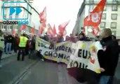 Manifestation à Strasbourg, une chanson fleurie pour Nicolas Sarkozy    - Politique.