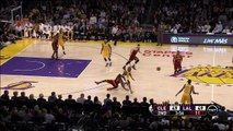 LeBron James misses dunk, Kobe Bryant laughs: Cleveland Cavaliers at Los Angeles Lakers