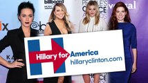 Katy Perry and Other Celebs Tweet Support for Hillary Clinton