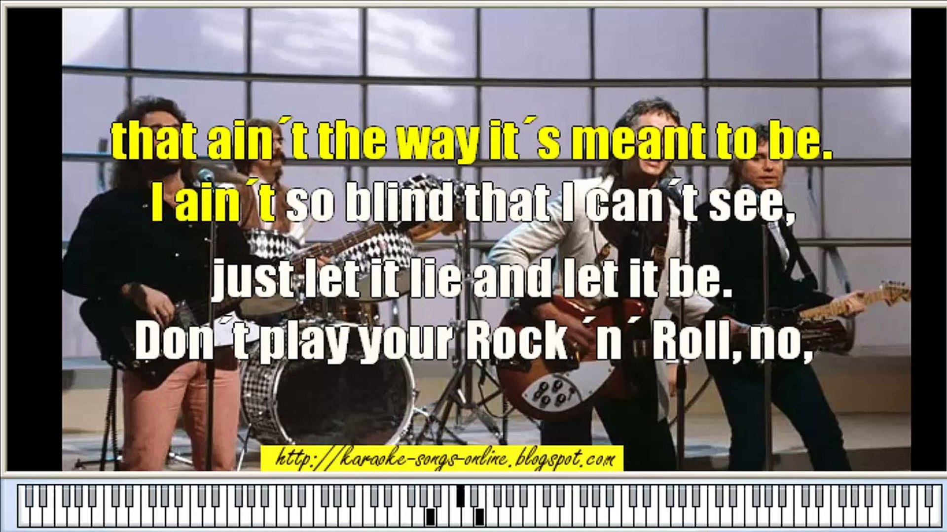 Smokie Don't play your rock 'n' roll to me  Free karaoke song online with  lyrics on the screen and chords