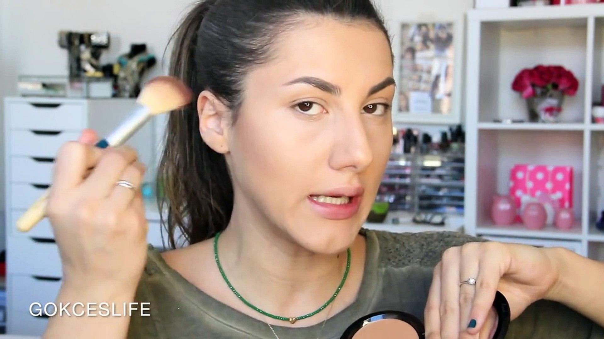 Serenay Sarikaya Tarzi Islak Görünümlü Makyaj |Glowy skin makeup