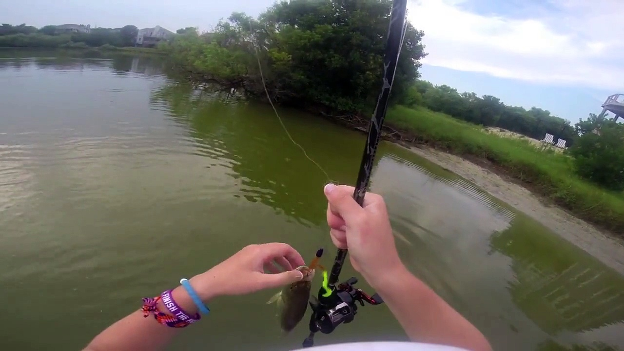 Outer Banks Bass Fishing – GoPro