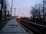 Passing LIRR Train