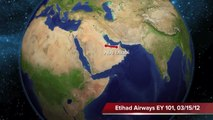 Abu Dhabi to New York on Etihad Airways A340-500: Take-Off in the Desert