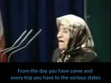 An Old Lady Loves President Ahmadinejad So Much, She Makes Him Cry. English Subs