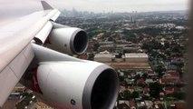 Qantas 747-400ER [VH-OEJ] Landing into Sydney.