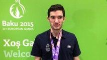 Emmanuel Lebesson - Médaille d'argent tennis de table par équipe