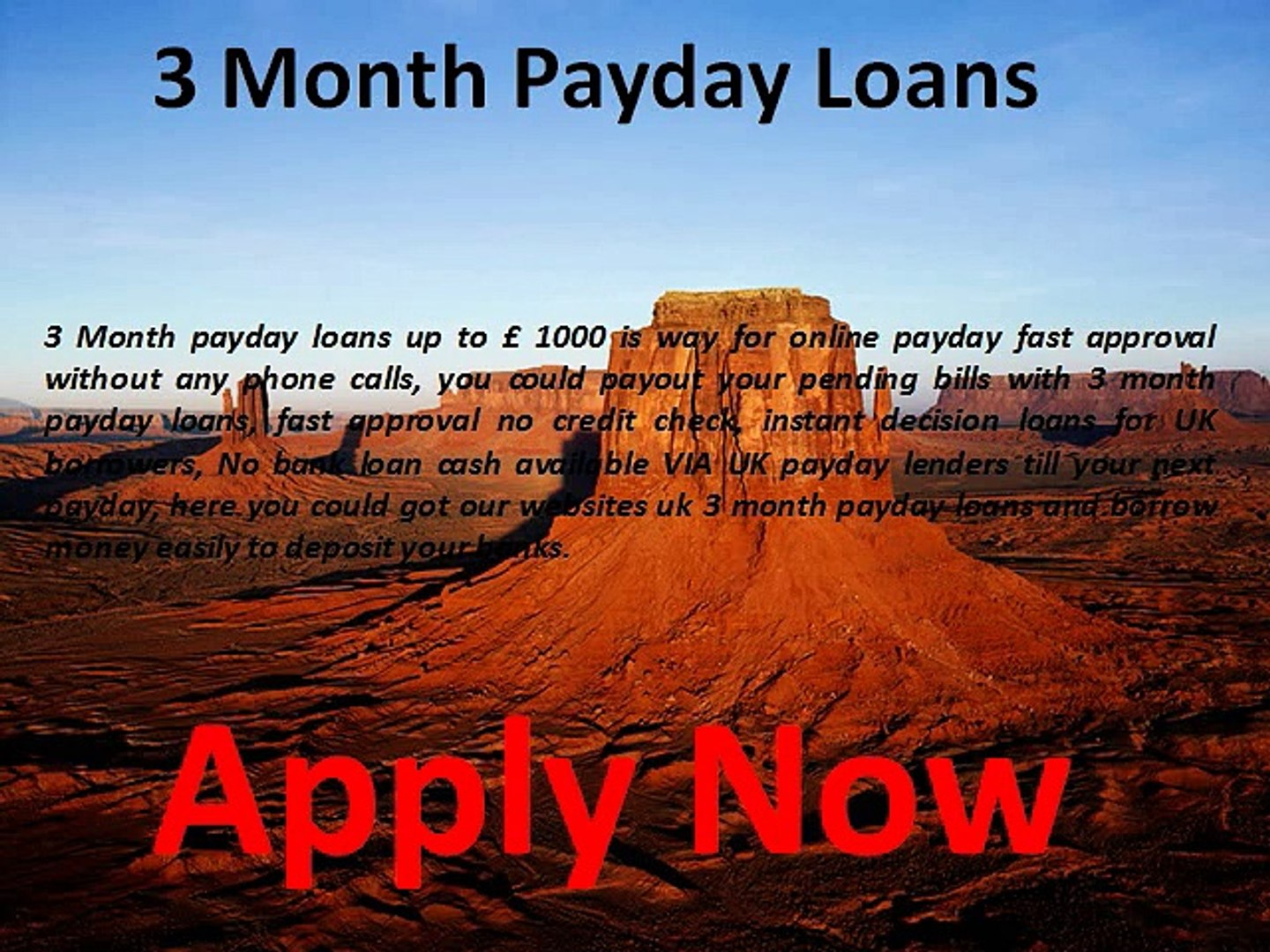 3 Month Payday Loans - Bad Credit 3 month Loans